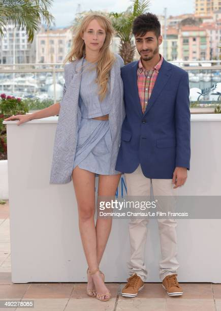 Actors Ingrid Garcia Jonsson and Carlos Rodriguez attend the 'Beautiful Youth' photocall at the 67th Annual Cannes Film Festival on May 19 2014 in...