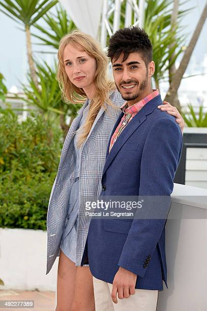 Actors Ingrid GarciaJonsson and Carlos Rodriguez attend the 'Hermosa Juventud' photocall at the 67th Annual Cannes Film Festival on May 19 2014 in...