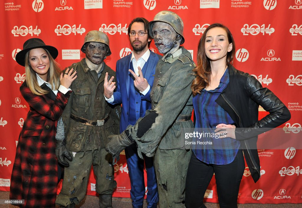 Actors Ingrid Haas, Martin Starr and Jocelyn DoBoer attend the 'Dead Snow; Red vs. Dead' premiere at Library Center Theater during the 2014 Sundance Film Festival on January 19, 2014 in Park City, Utah.