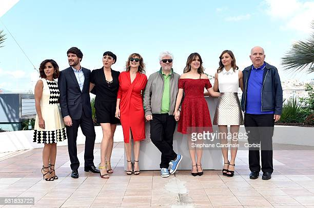 Actors Inma Cuesta Daniel Grao Rossy de Palma Emma Suarez director Pedro Almodovar actresses Adriana Ugarte Michelle Jenner and producer Agustin...