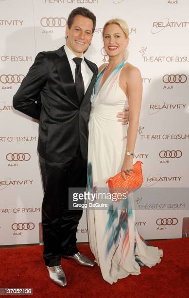 Actors Ioan Gruffudd and Alice Evans arrive at Art Of Elysium's 5th Annual Heaven Gala at Union Station on January 14 2012 in Los Angeles California