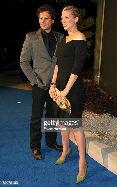 Actors Ioan Gruffudd and Alice Evans arrive at the Alexander McQueen store opening held at the new Alexander McQueen store on May 13 2008 in Los...