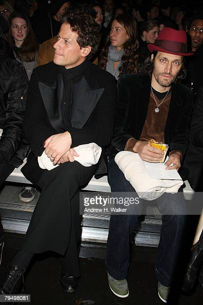 Actors Ioan Gruffudd and Vincent Gallo attend the Y3 Fall 2008 fashion show at Pier 40 during MercedesBenz Fashion Week Fall 2008 on February 3 2008...