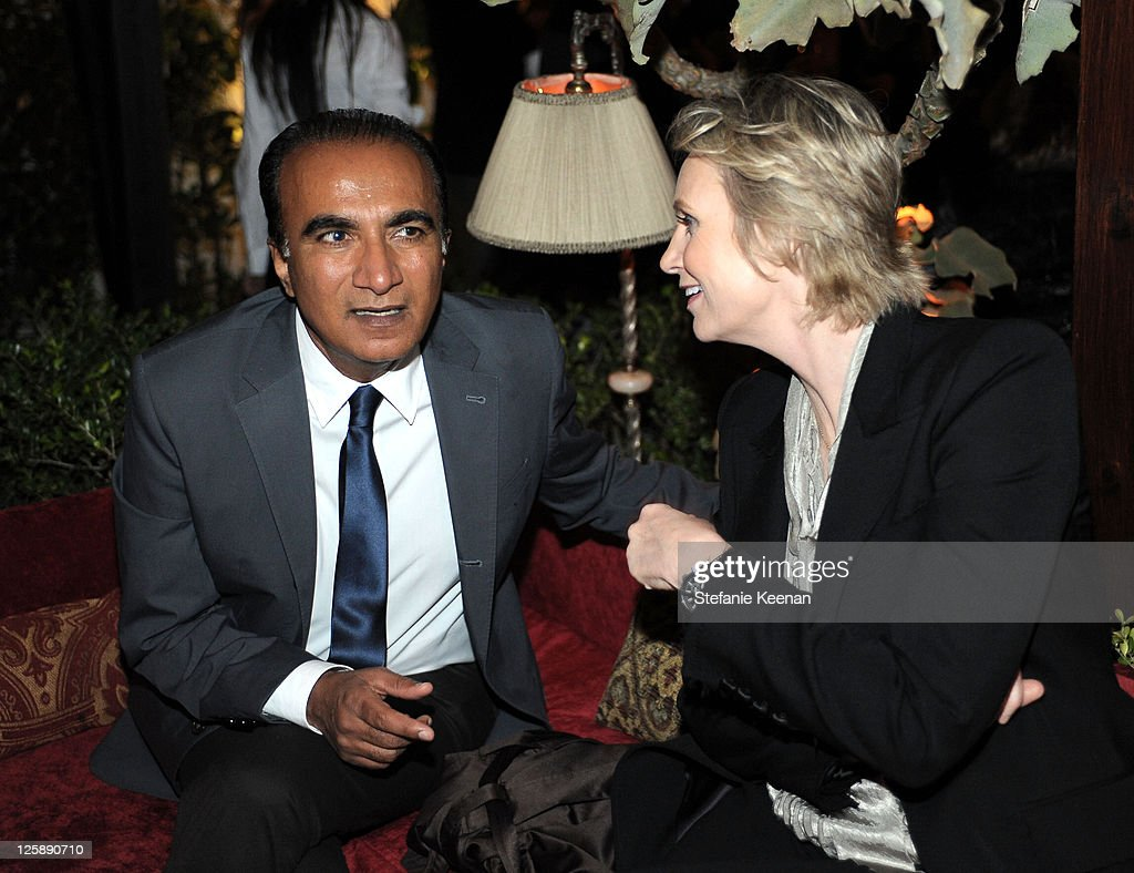 Actors Iqbal Theba and Jane Lynch attend Entertainment Weekly's celebration honoring the 17th Annual Screen Actors Guild Awards nominees hosted by...