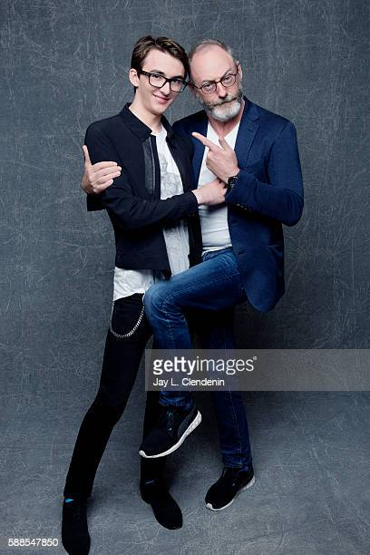 Actors Isaac Hempstead Wright and Liam Cunningham of HBO's 'Game of Thrones' are photographed for Los Angeles Times at San Diego Comic Con on July 22...
