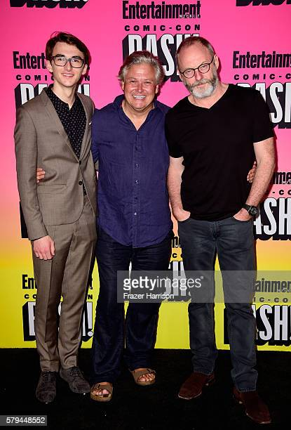 Actors Isaac Hempstead Wright Conleth Hill and Liam Cunningham attend Entertainment Weekly's ComicCon Bash held at Float Hard Rock Hotel San Diego on...