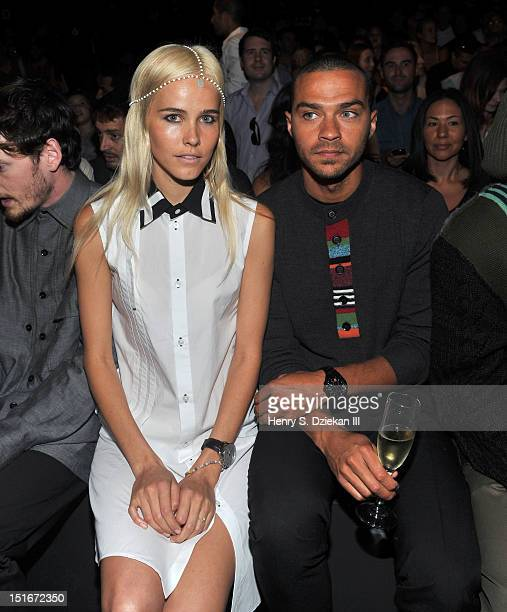Actors Isabel Lucas and Jesse Williams attend the Y3 10th Anniversary Collection show during Spring 2013 MercedesBenz Fashion Week at St John's...