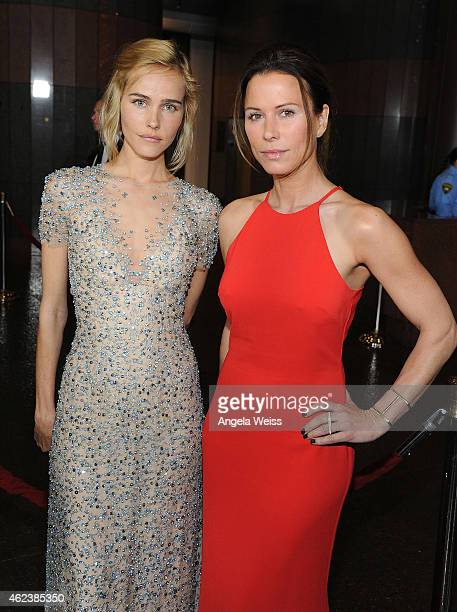 Actors Isabel Lucas and Rhona Mitra attend the screening of Open Road Films' 'The Loft' at Directors Guild Of America on January 27 2015 in Los...