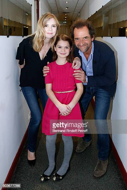 Actors Isabelle Carre greatgranddaughter of Michel Audiard Aminthe Audiard and Stephane De Groodt present the movie 'ParisWillouby' during the...