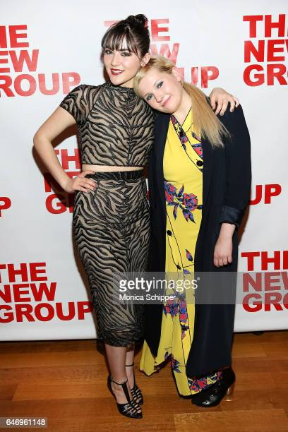 Actors Isabelle Fuhrman and Abigail Breslin attend 'All The Fine Boys' Opening Night on March 1 2017 in New York City