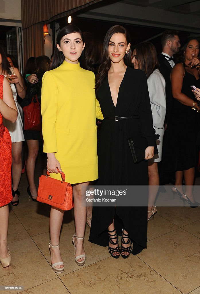 Actors Isabelle Fuhrman and Jessica Lowndes attend the Harper's BAZAAR celebration of the launch of Bravo TV's 'The Dukes of Melrose' starring Cameron Silver and Christos Garkinos at Sunset Tower on February 28, 2013 in West Hollywood, California.