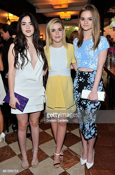 Actors Isabelle Fuhrman Kiernan Shipka and Kerris Dorsey attend Lynn Hirschberg Celebrates W's It Girls with Piaget and Dom Perignon at AOC on...