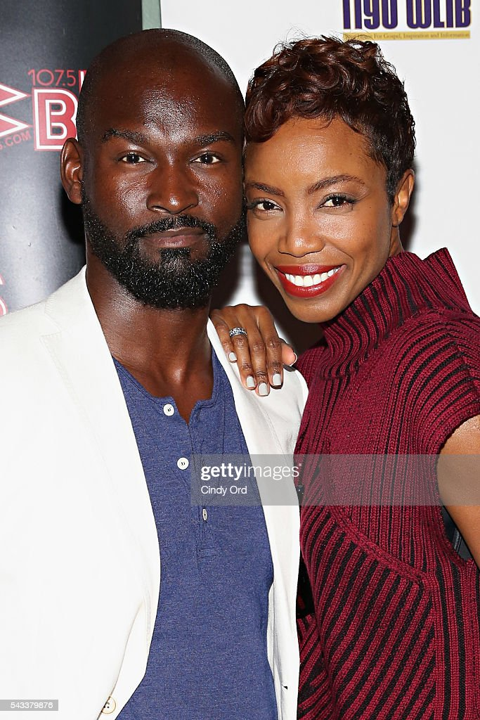 Actors Isaiah Johnson and <a gi-track='captionPersonalityLinkClicked' href=/galleries/search?phrase=Heather+Headley&family=editorial&specificpeople=224680 ng-click='$event.stopPropagation()'>Heather Headley</a> attend as WBLS 107.5 and 1190 WLIB celebrate Black Music Month with Broadway's 'The Color Purple' on June 27, 2016 in New York City.