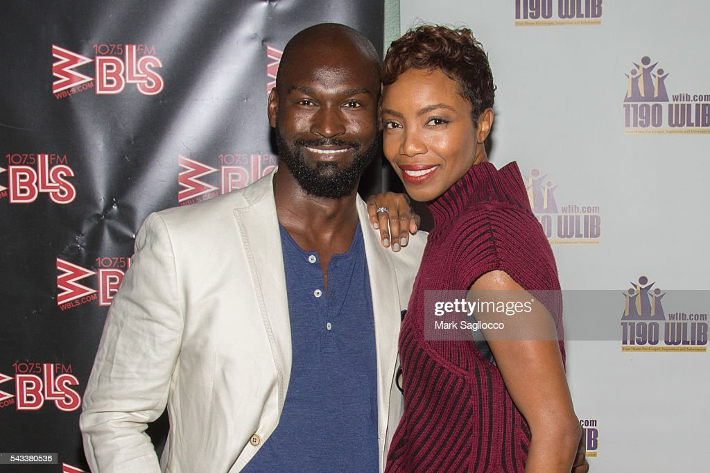 Actors Isaiah Johnson (L) and <a gi-track='captionPersonalityLinkClicked' href=/galleries/search?phrase=Heather+Headley&family=editorial&specificpeople=224680 ng-click='$event.stopPropagation()'>Heather Headley</a> attend the WBLS 107.5 & 1190 WLIB Celebration of Black Music Month with Broadway's 'The Color Purple' on June 27, 2016 in New York City.