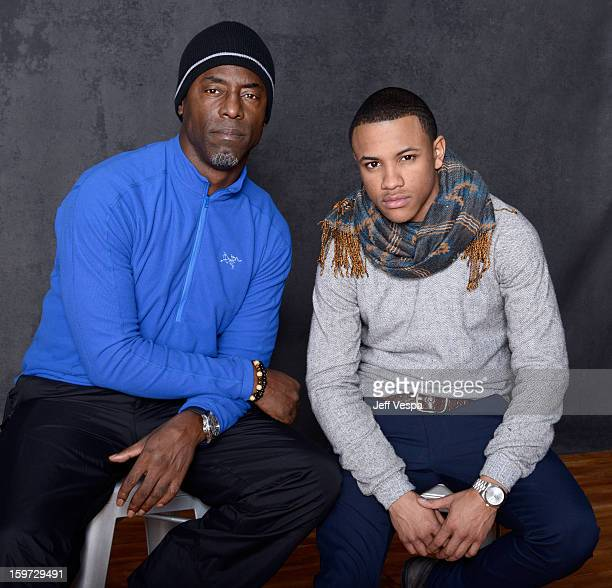 Actors Isaiah Washington and Tequan Richmond pose for a portrait during the 2013 Sundance Film Festival at the WireImage Portrait Studio at Village...