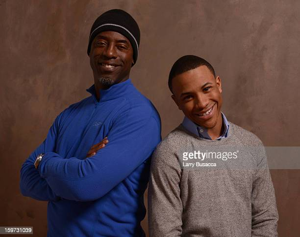 Actors Isaiah Washington and Tequan Richmond pose for a portrait during the 2013 Sundance Film Festival at the Getty Images Portrait Studio at...