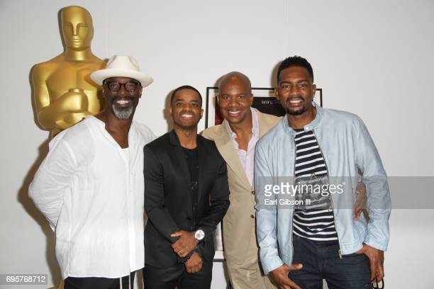 Actors Isaiah Washington Larenz Tate Leonard Roberts and Bill Bellamy attend The Academy Of Motion Picture Arts And Sciences 20th Anniversary...