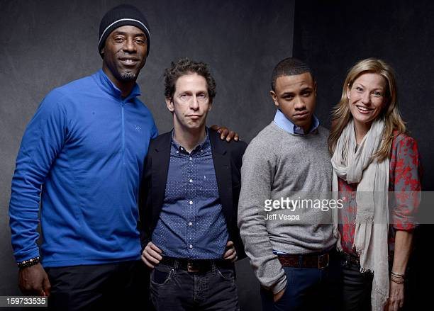 Actors Isaiah Washington Tim Blake Nelson Tequan Richmond and Joey Lauren Adams pose for a portrait during the 2013 Sundance Film Festival at the...