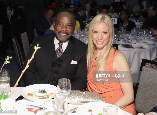 Actors Isiah Whitlock Jr and Liza Huber attend UCP of NYC 70th Anniversary Gala on March 9 2017 in New York City