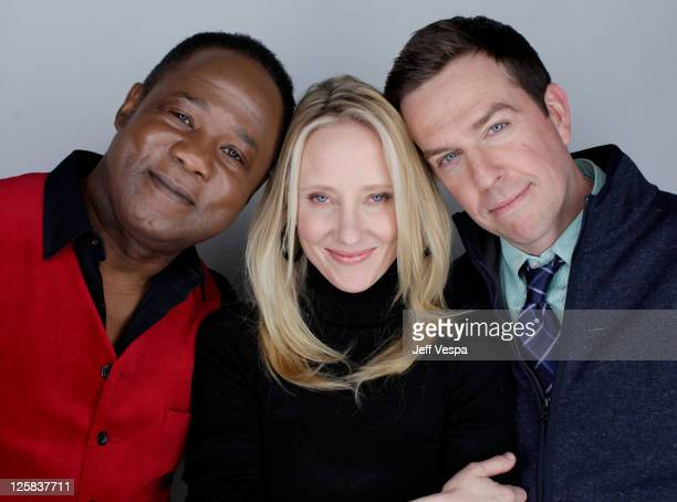 Actors Isiah Whitlock Jr Anne Heche and Ed Helms pose for a portrait during the 2011 Sundance Film Festival at the WireImage Portrait Studio at The...