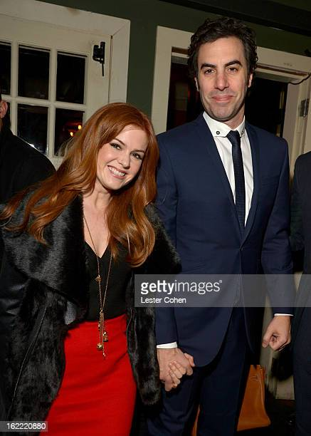 Actors Isla Fisher and Sacha Baron Cohen attend Vanity Fair and the Chrysler brand Celebration of Les Misérables in support of The Los Angeles Fund...