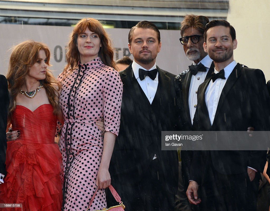 Actors Isla Fisher, Florence Welch, Leonardo DiCaprio, Amitabh Bachchan and Tobey Maguire attend the Opening Ceremony and 'The Great Gatsby' Premiere during the 66th Annual Cannes Film Festival at the Theatre Lumiere on May 15, 2013 in Cannes, France.