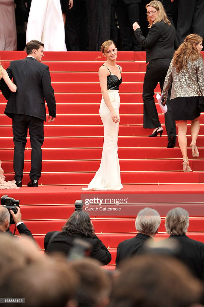 Actors Israel Broussard and Emma Watson attend 'The Bling Ring' premiere during The 66th Annual Cannes Film Festival at the Palais des Festivals on May 16, 2013 in Cannes, France.
