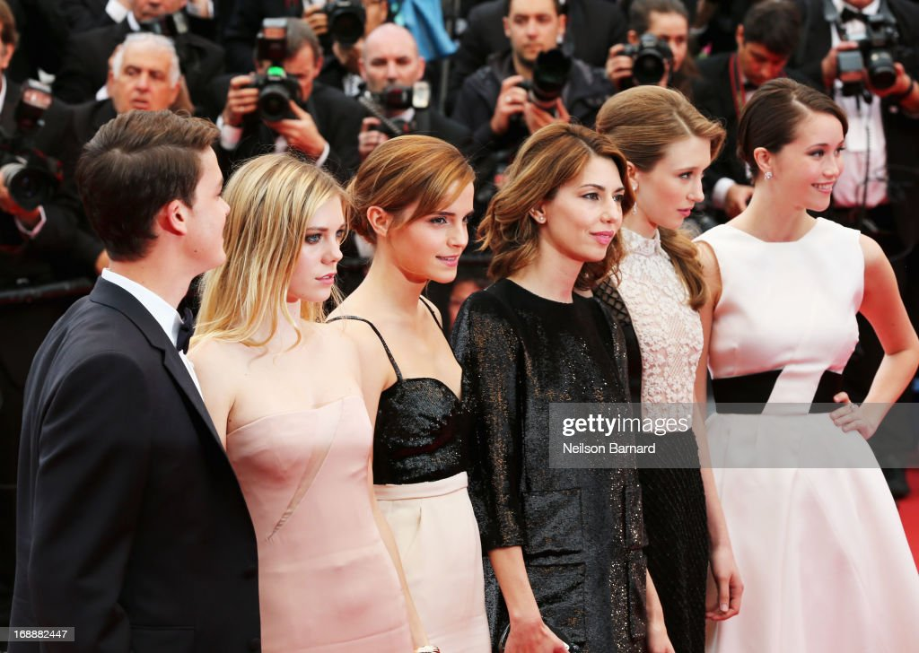 Actors Israel Broussard, Claire Julien, Emma Watson, director Sofia Coppola, actors Taissa Fariga and Katie Chang attend the Premiere of 'The Bling Ring' at The 66th Annual Cannes Film Festival at Palais des Festivals on May 16, 2013 in Cannes, France.