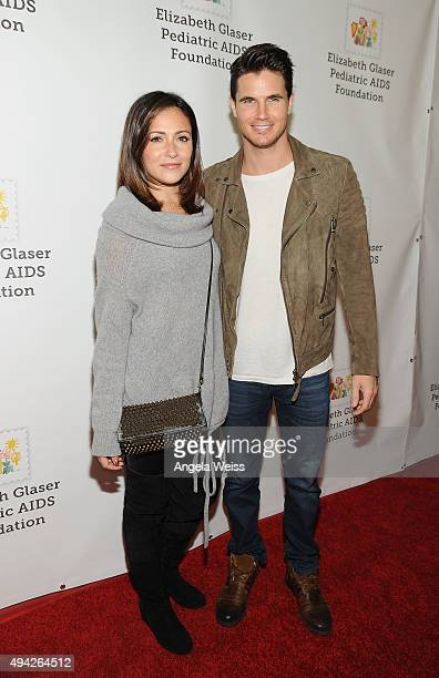 Actors Italia Ricci and Robbie Amell attend the Elizabeth Glaser Pediatric AIDS Foundation's 26th Annual A Time For Heroes Family Festival at...