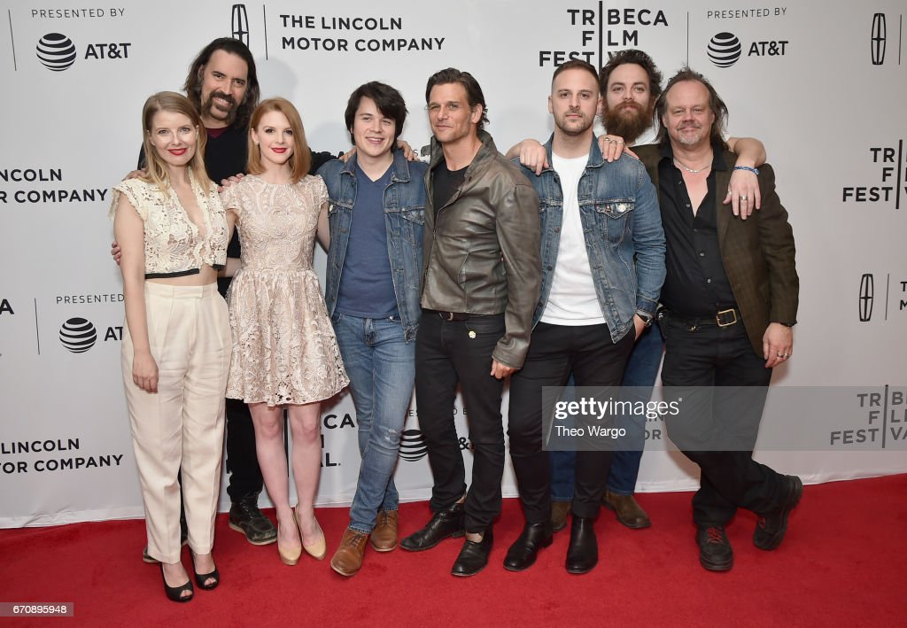 Actors Ivana Shein, Jeff Daniel Phillips, Mickey Keating, Ashley Bell, Mark Kassen, Sam Zimmerman, Jeremy Gardner and Larry Fessenden attends the 'Psychopaths' Premiere during 2017 Tribeca Film Festival at Cinepolis Chelsea on April 20, 2017 in New York City.