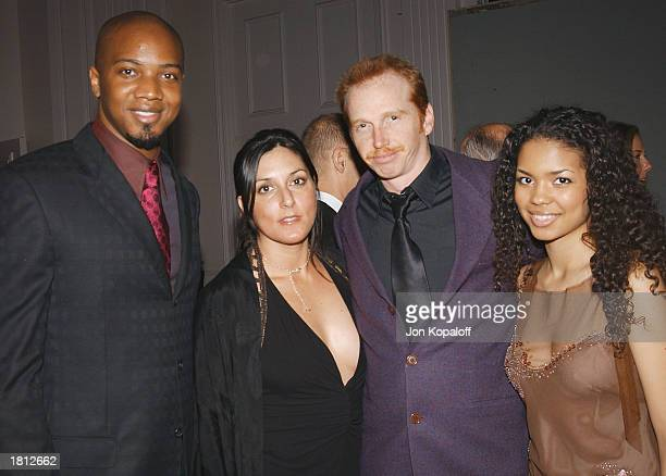 Actors J August Richards Courtney Gains with guest and Jennifer Freeman pose during the 53rd Annual ACE Eddie Awards at the Beverly Hilton Hotel on...