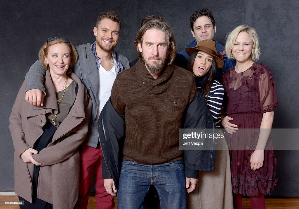 Actors J. Smith-Cameron, Clayne Crawford, creator Raymond McKinnon, Abigail Spencer, Luke Kirby, and Adelaide Clemens pose for a portrait during the 2013 Sundance Film Festival at the WireImage Portrait Studio at Village At The Lift on January 18, 2013 in Park City, Utah.