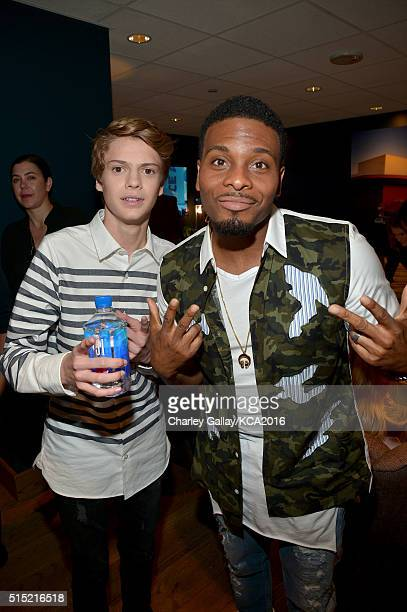 Actors Jace Norman and Kel Mitchell attend Nickelodeon's 2016 Kids' Choice Awards at The Forum on March 12 2016 in Inglewood California