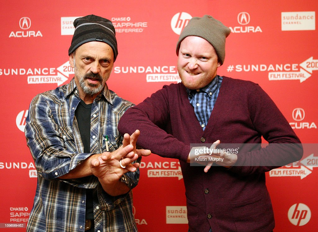 Actors Jacek Koman and Byron Coll attend the 'Shopping' premiere at Egyptian Theatre during the 2013 Sundance Film Festival on January 18, 2013 in Park City, Utah.