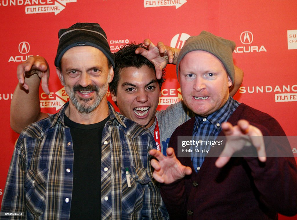 Actors Jacek Koman, Kevin Paulo and Byron Coll attend the 'Shopping' premiere at Egyptian Theatre during the 2013 Sundance Film Festival on January 18, 2013 in Park City, Utah.