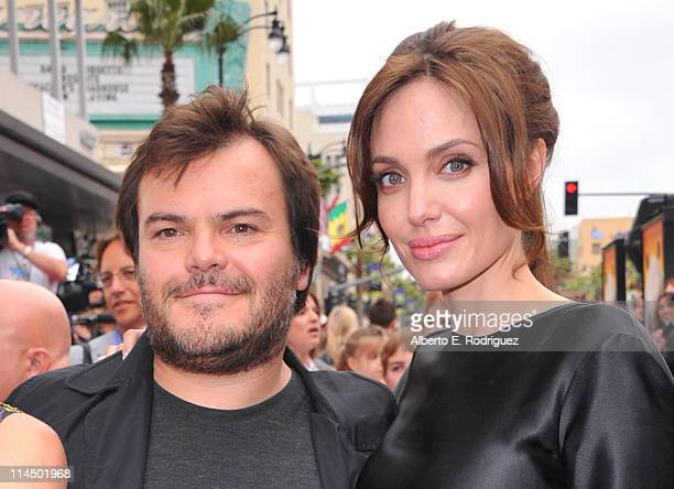 Actors Jack Black and Angelina Jolie arrive at DreamWorks Animation's 'Kung Fu Panda 2' Los Angeles Premiere held at Grauman's Chinese Theatre on May...