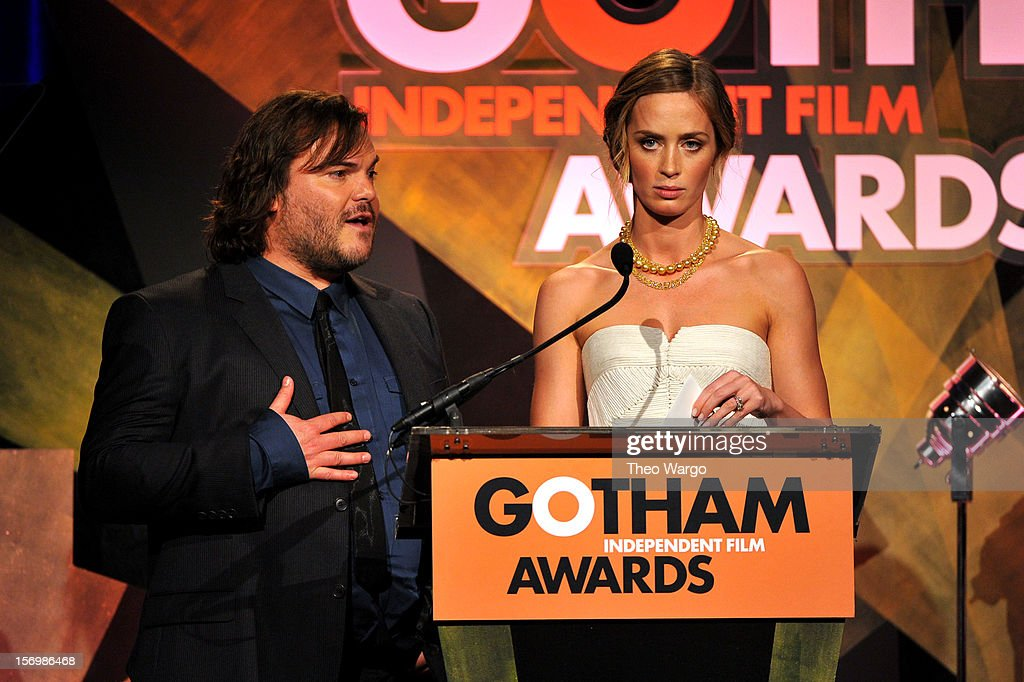 Actors Jack Black and Emily Blunt attend the 22nd Annual Gotham Independent Film Awards at Cipriani Wall Street on November 26, 2012 in New York City.