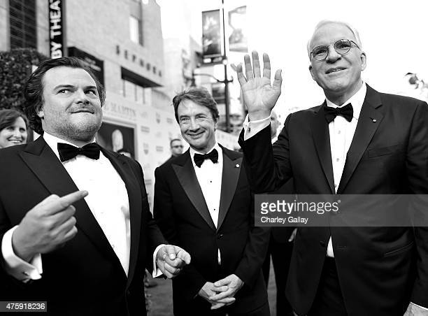 Actors Jack Black Martin Short and honoree Steve Martin attend the 2015 AFI Life Achievement Award Gala Tribute Honoring Steve Martin at the Dolby...