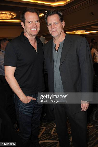 Actors Jack Coleman and Al Corley at The Hollywood Show held at The Westin Hotel LAX on January 24 2015 in Los Angeles California