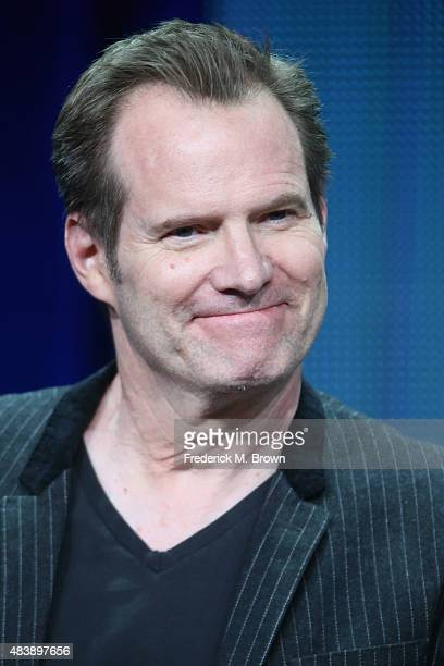 Actors Jack Coleman speaks onstage during NBC's 'Heroes Reborn' panel discussion at the NBCUniversal portion of the 2015 Summer TCA Tour at The...