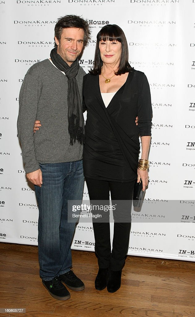 Actors <a gi-track='captionPersonalityLinkClicked' href=/galleries/search?phrase=Jack+Davenport&family=editorial&specificpeople=217448 ng-click='$event.stopPropagation()'>Jack Davenport</a> and Angelica Huston attend 'Haven't We Met Before?' New York Premiere at 711 Greenwich Street on February 3, 2013 in New York City.