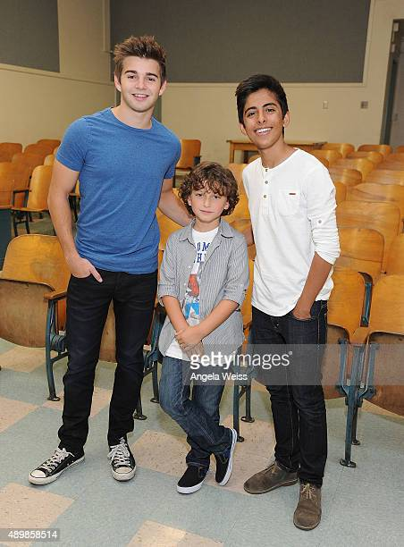 Actors Jack Griffo August Maturo and Karan Brar attend the SAG Foundation and Rise Up Foundation Read to Me Challenge at Coldwater Canyon Elementary...