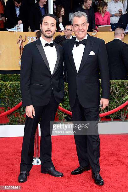 Actors Jack Huston and Danny Huston arrive at the 19th Annual Screen Actors Guild Awards held at The Shrine Auditorium on January 27 2013 in Los...
