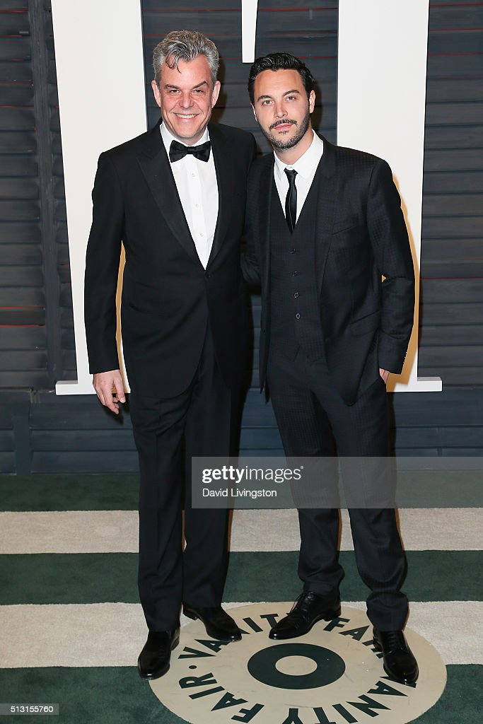 Actors Jack Huston and Danny Huston arrive at the 2016 Vanity Fair Oscar Party Hosted by Graydon Carter at the Wallis Annenberg Center for the...