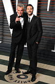 Actors Jack Huston and Danny Huston attend the 2016 Vanity Fair Oscar Party hosted By Graydon Carter at Wallis Annenberg Center for the Performing...