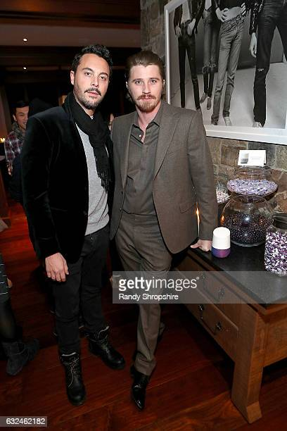 Actors Jack Huston and Garrett Hedlund attend Google Home x Sundance x Wanderluxxe celebrate diversity at the home of Barry Amy Baker on January 22...