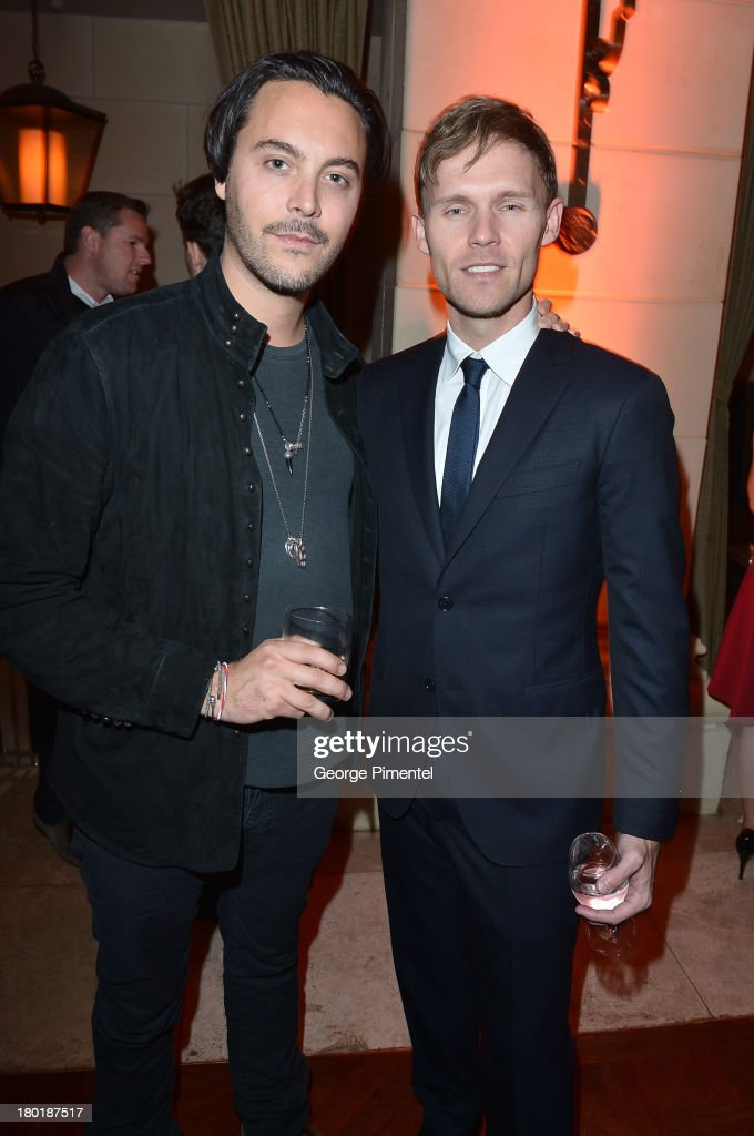 Actors Jack Huston and Scott Haze attend InStyle and the Hollywood Foreign Press Association's Annual Toronto International Film Festival Party...