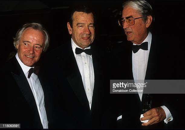 Actors Jack Lemmon Walter Matthau and Gregory Peck pose for a portrait in 1986 in Los Angeles California