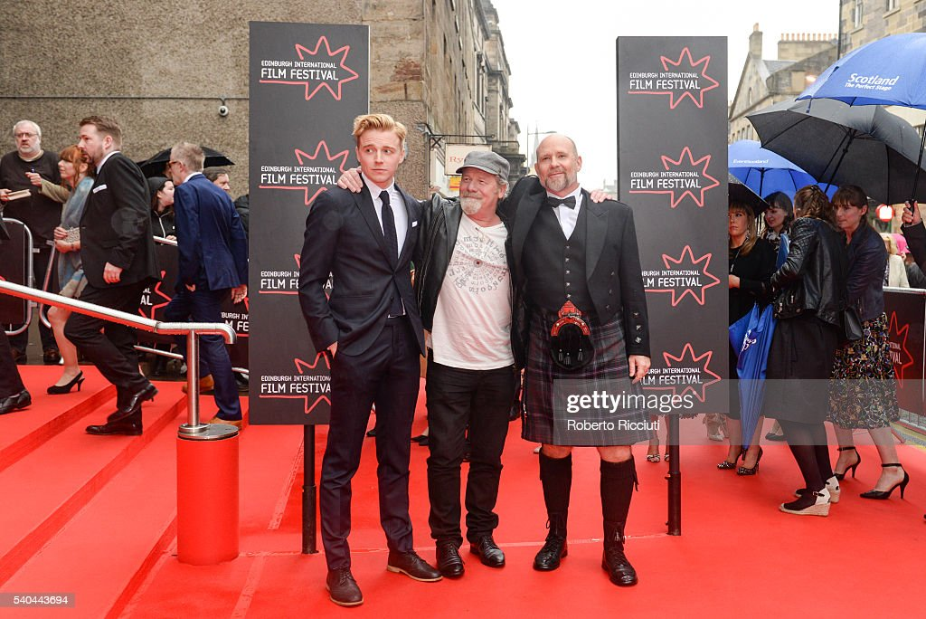 Actors Jack Lowden, <a gi-track='captionPersonalityLinkClicked' href=/galleries/search?phrase=Peter+Mullan&family=editorial&specificpeople=533010 ng-click='$event.stopPropagation()'>Peter Mullan</a> and director Jason Connery attend the screening of 'Tommy's Honour' and opening gala of the Edinburgh International Film Festival at Edinburgh Festival Theatre on June 15, 2016 in Edinburgh, Scotland.