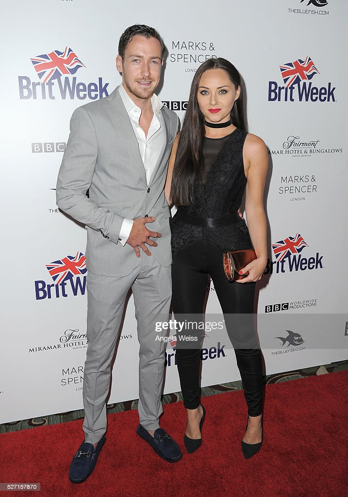 Actors Jack Lowe (L) and Audrey Hamilton attend BritWeek's 10th Anniversary VIP Reception & Gala at Fairmont Hotel on May 1, 2016 in Los Angeles, California.